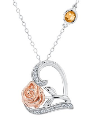 Rose Gold Necklace Beauty And The Beast