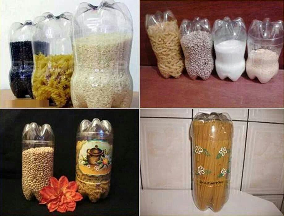 Reuse bottles as food containers