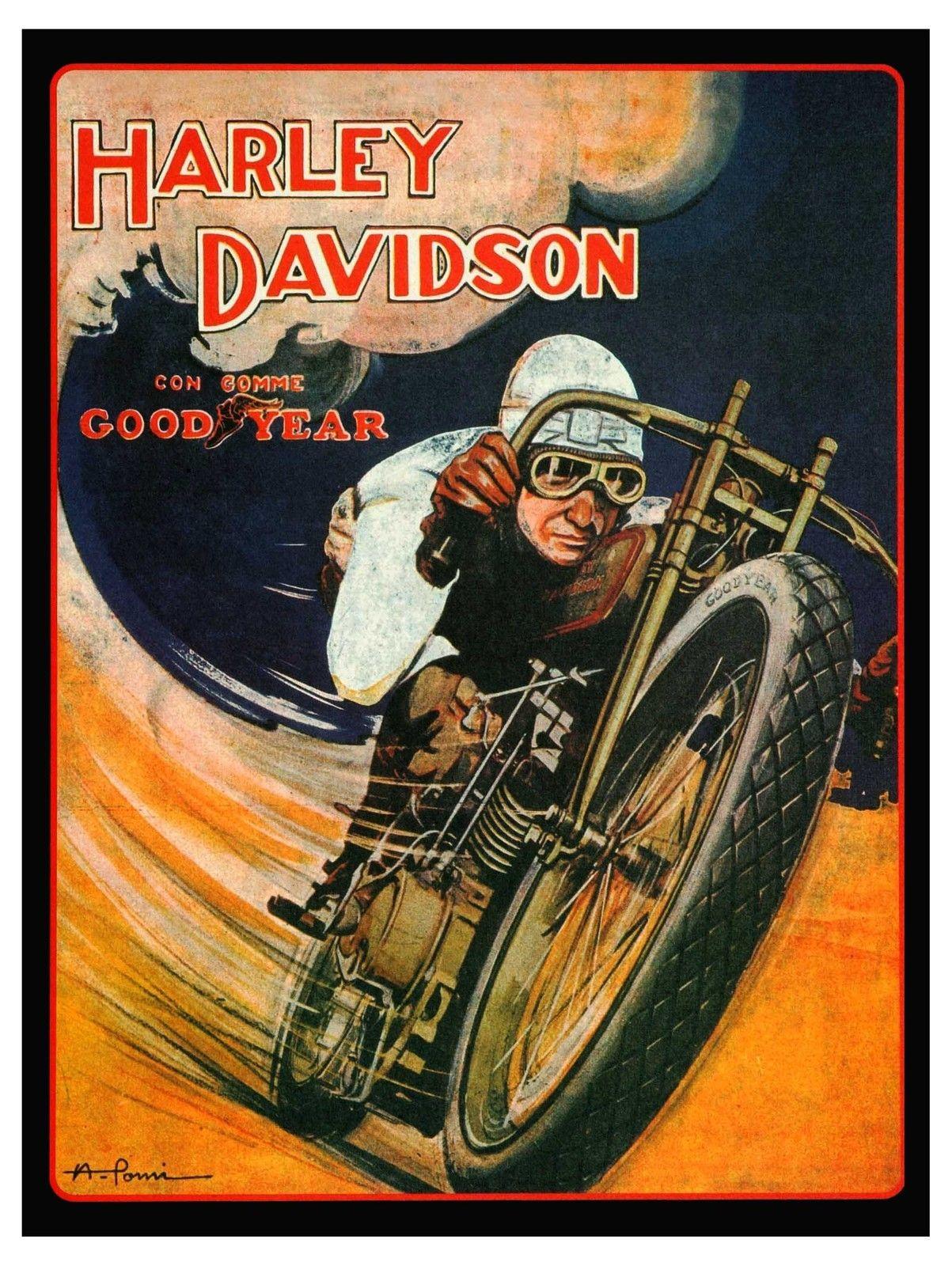 Vintage Harley Davidson Posters Harley Davidson Carteles Vintage Anuncios Antiguos