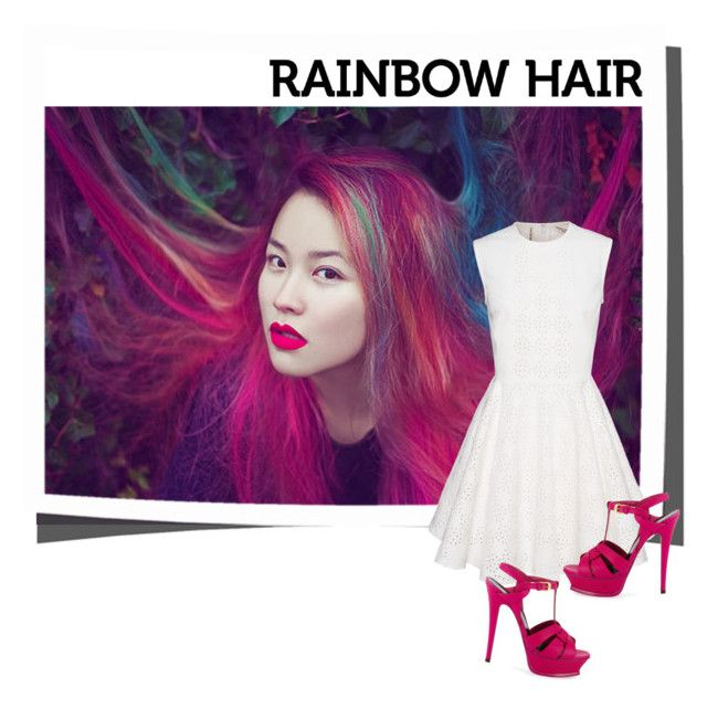 """Rainbow hair"" by aifos16 ❤ liked on Polyvore"