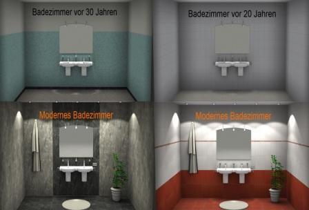 Fliesen Vor Und Jahren Moderne Fliesenplanung Mit Dem - Bad fliesen planer