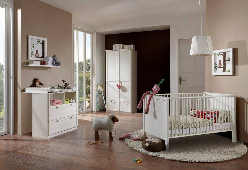 Babyzimmer Komplettset Helsingborg 3 Tlg Bett Wickelkommode