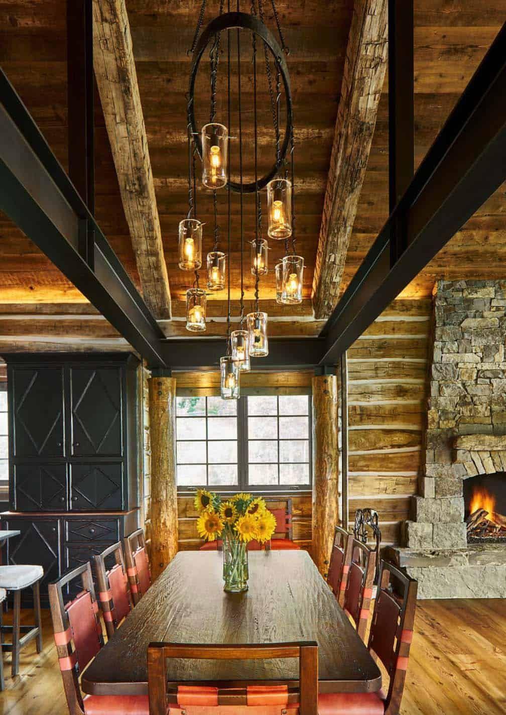 Modernrustic log cabin preserves historic charm in