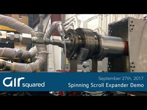Spinning Scroll Expander Demo YouTube Thermal energy