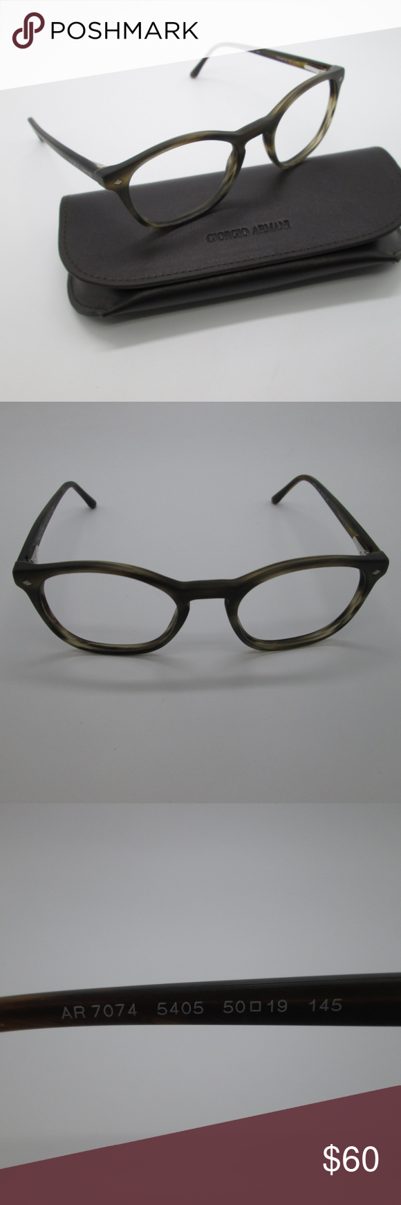 9c6d33b7f305 Giorgio Armani AR7074 5405 Men s Eyeglasses DAE214 Giorgio Armani AR7074  5405 Men s Eyeglasses DAE214 Frame and temples in Excellent condition. Frame  only.