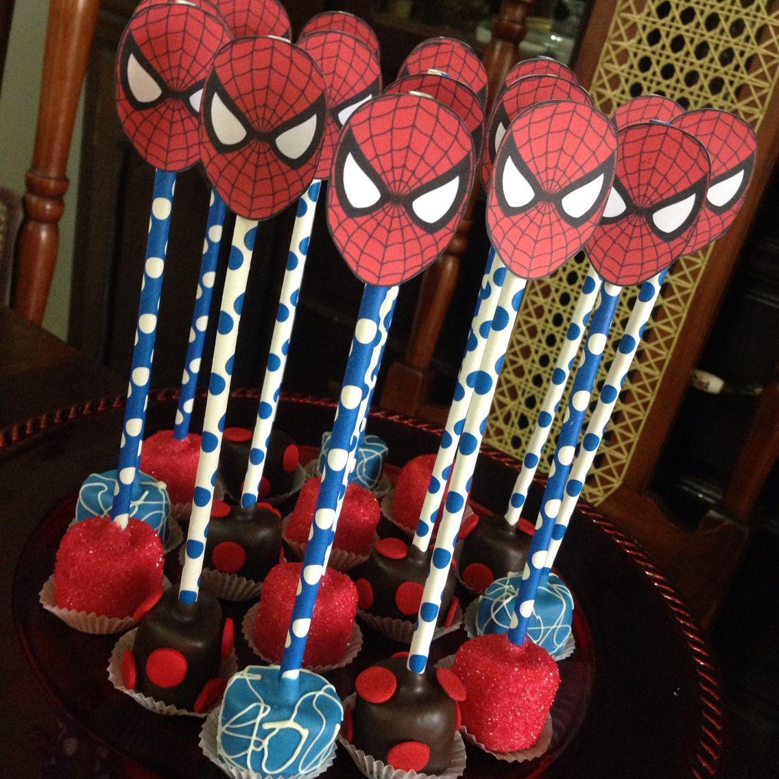 Spider Man Marshmallows Pops