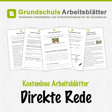 kostenlose arbeitsbl tter und unterrichtsmaterial f r den deutsch unterricht zum thema direkte. Black Bedroom Furniture Sets. Home Design Ideas