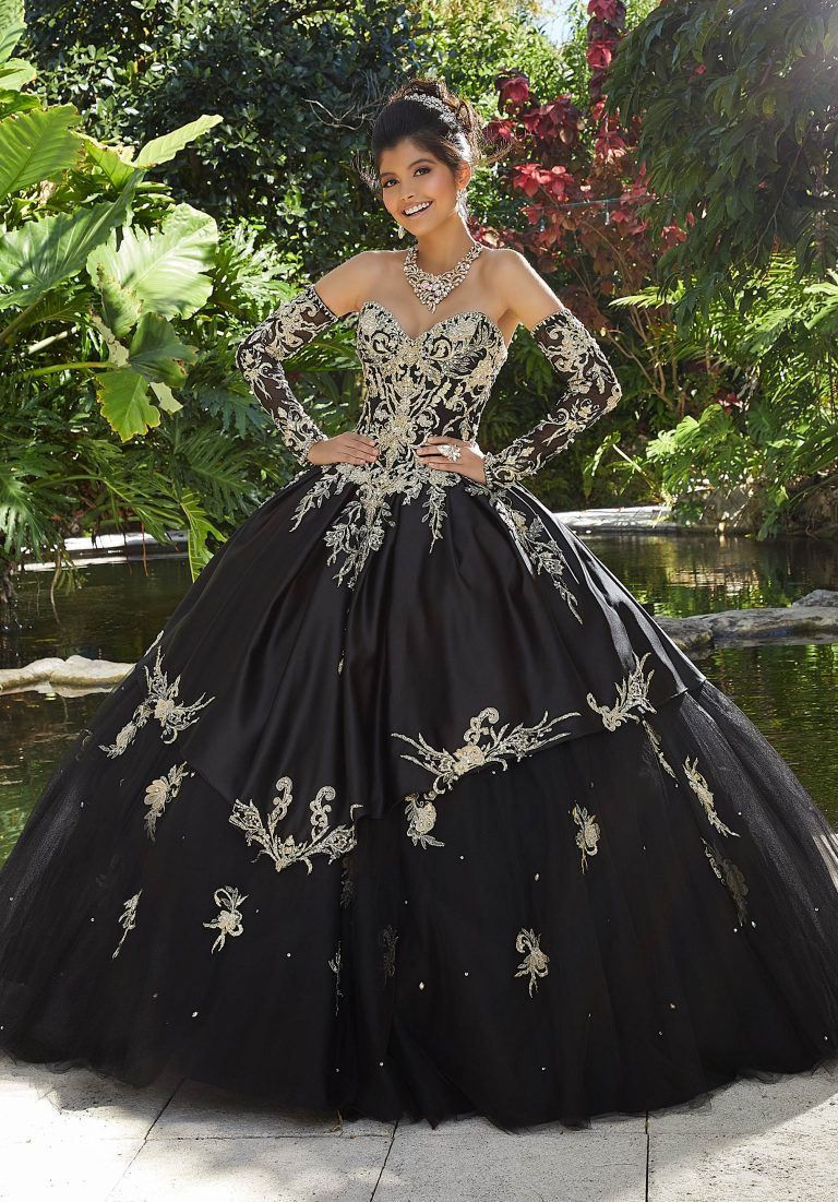 Crystal Beaded Quinceanera Dress By Morilee Morilee Style 89248 Black Quinceanera Dresses Pretty Quinceanera Dresses Quinceanera Dresses [ 1101 x 768 Pixel ]