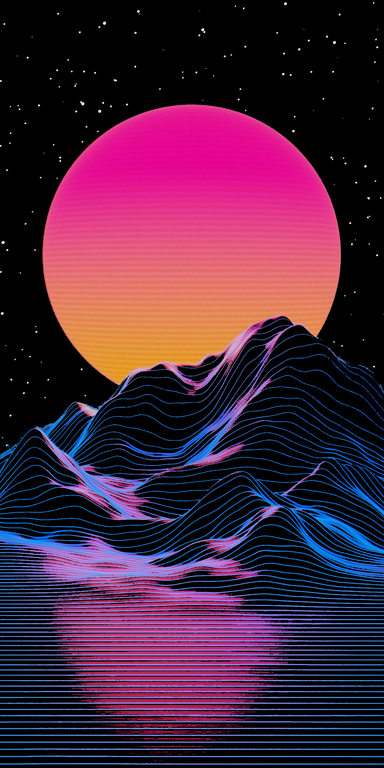 Outrun Sunset 1280x2560 Amoledbackgrounds Neon Wallpaper Glitch Wallpaper Vaporwave Wallpaper