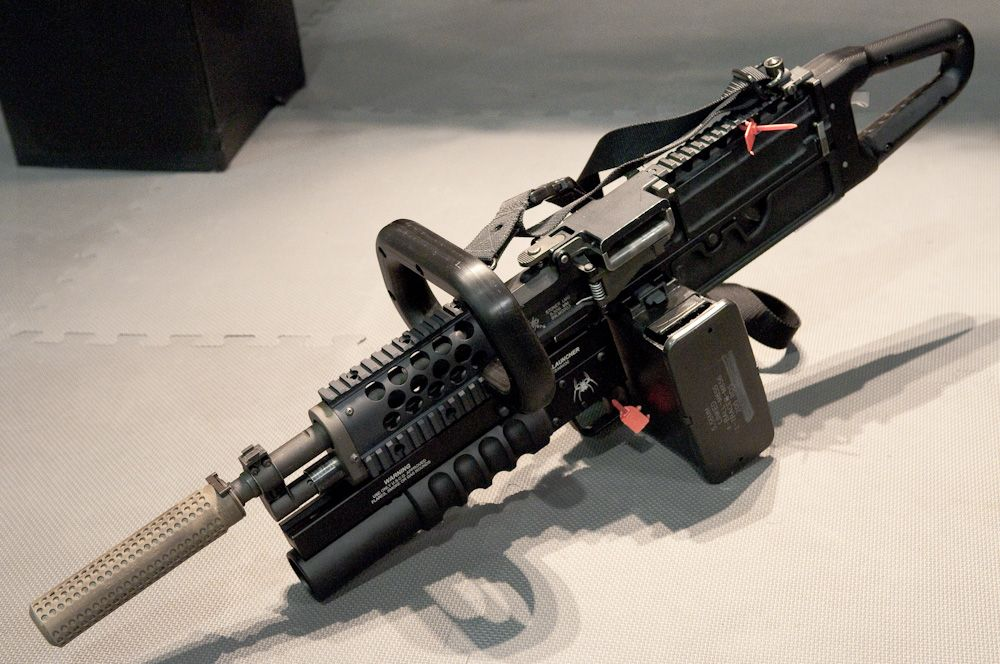 M240 Chainsaw with M203  When you go to be the coolest kid