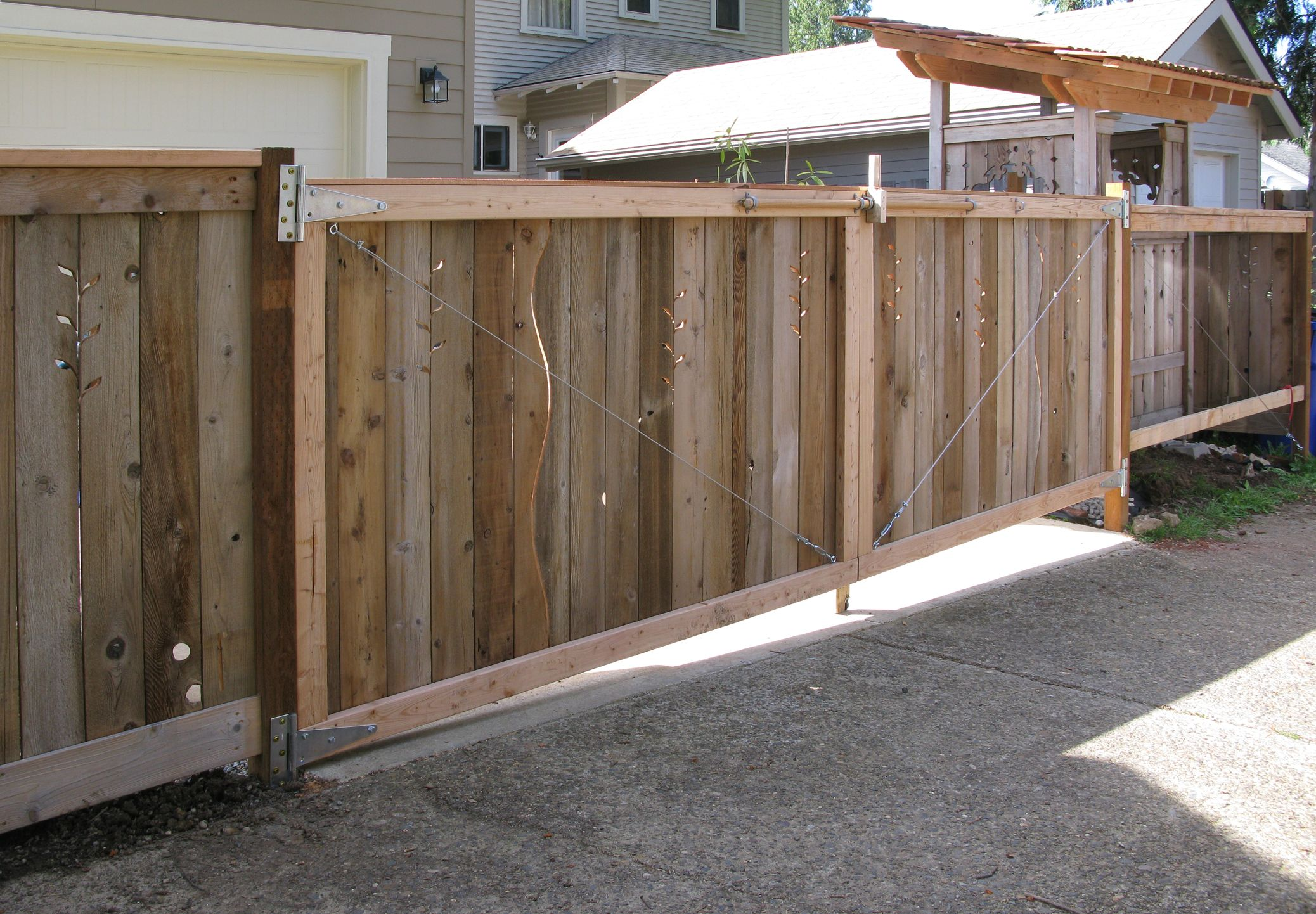 """Fifteen-foot driveway gate for Gloria."" Jane Hart Designs ..."