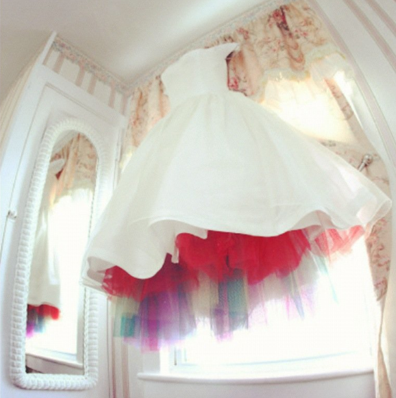 Rainbow Tulle Tlc S Say Yes To The Dress Rainbow Wedding Dress Rainbow Wedding Tea Length Wedding Dress