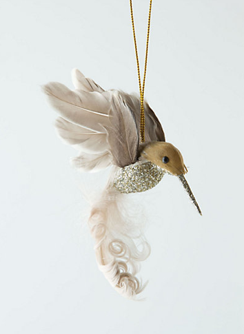 a sophisticated silver hummingbird christmas ornament dotcoms for moms