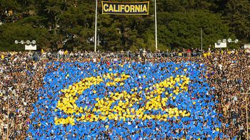 reputable site 1d8da b2ca3 Cal card stunt at the football game