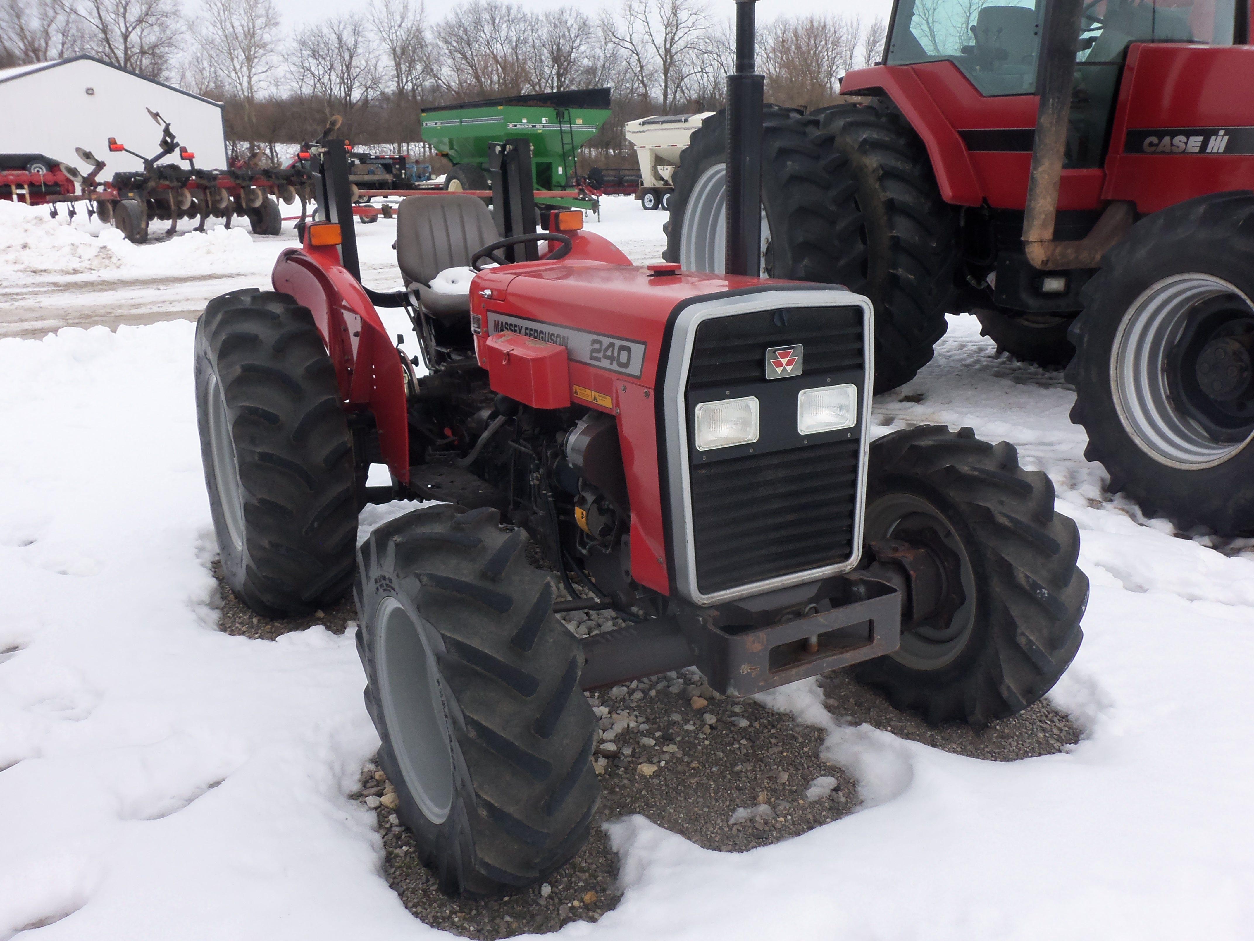 4 wheel drive Massey Ferguson 240.In the 1970s Massey Ferguson made a  230,235 & 245 utility tractors