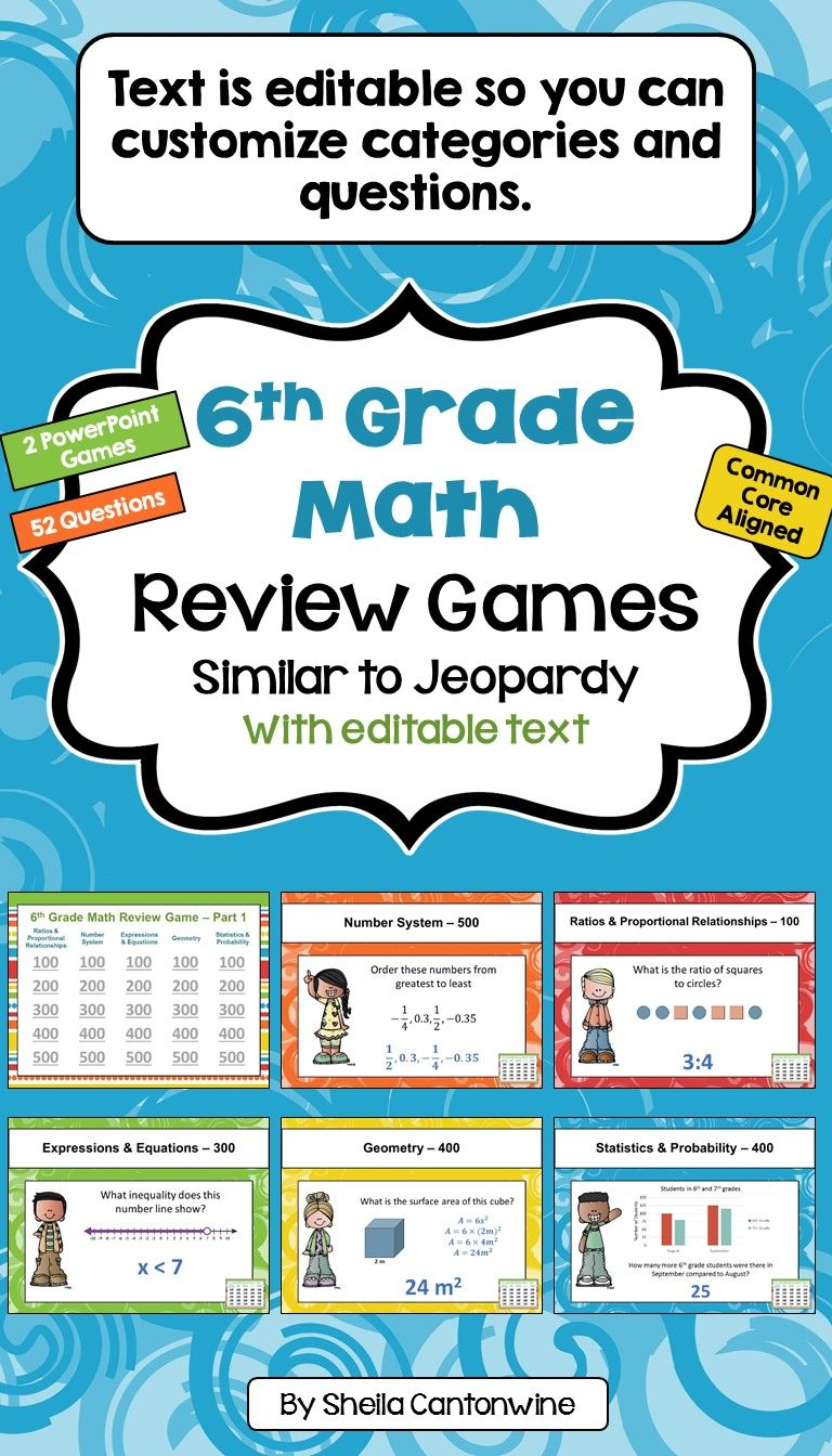 6th Grade Math Review and Test Prep Games | Common cores, Math and ...