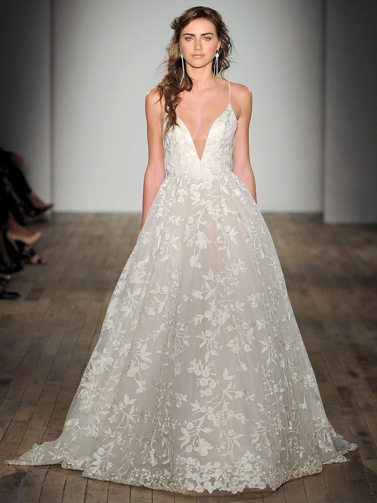 Jim Hjelm Fall 2017 Romantic Floral And Lace Wedding Dresses
