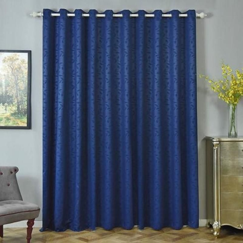 Navy Blue Blackout Curtains 2 Packs Embossed Curtains 52 X 96