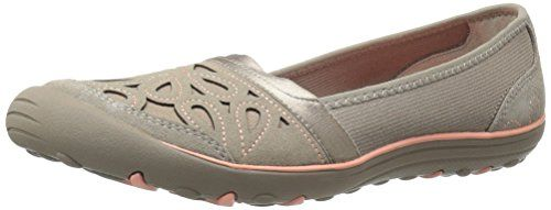 Skechers Women's Earth Fest-Repurpose Flat, Taupe, 9 M US * You can get more details by clicking on the image.