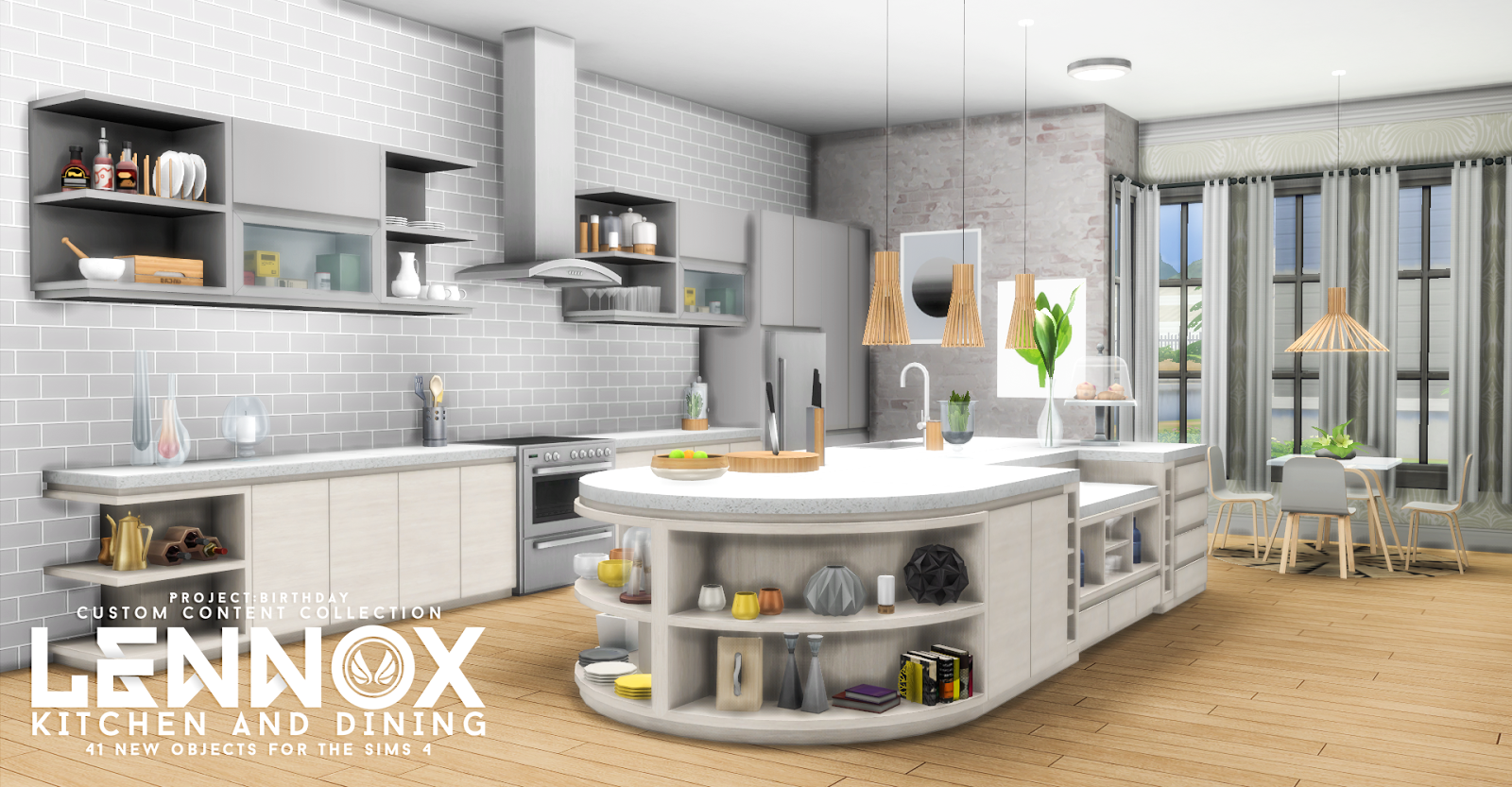 My sims 4 blog updated lennox kitchen and dining set by for Kitchen ideas sims 4