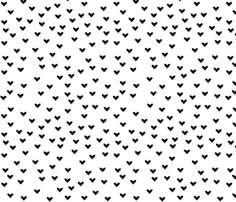 Little black hearts fabric by boco_baby on Spoonflower - custom fabric