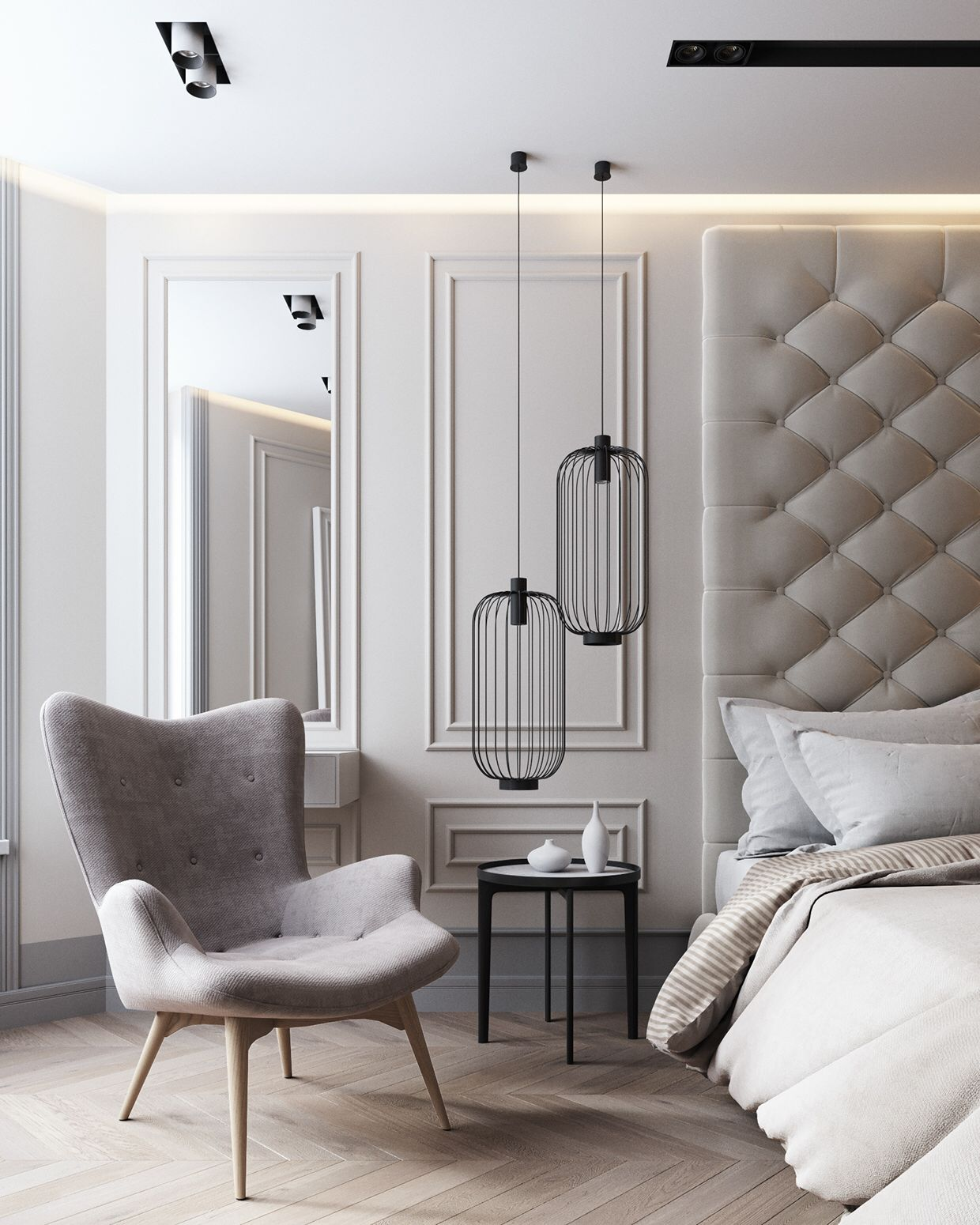 Wall Panelling Headboard Modern Bedroom Furniture Luxurious Bedrooms Interior Design Bedroom