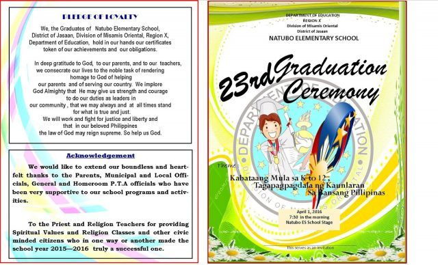 image result for graduation program template