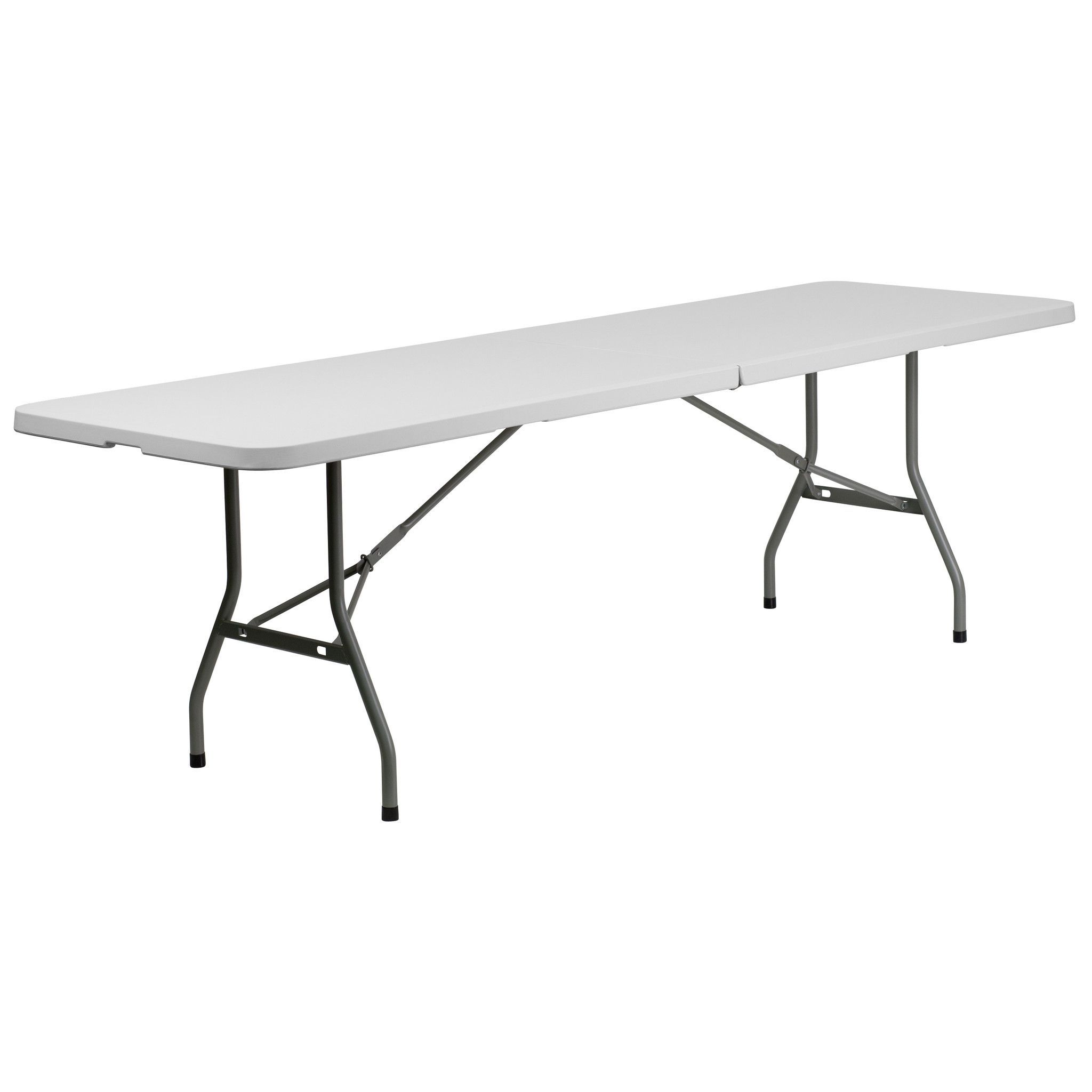 This Rectangular Folding Table Is 8 Feet Long And Is Beneficial In A Multitude Of Settings That Include B Flash Furniture Folding Table Camping Table