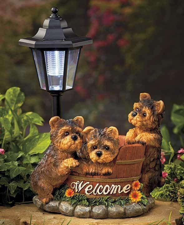 Solar Dog Breed Lantern Yorkie Path Light Garden Ideas