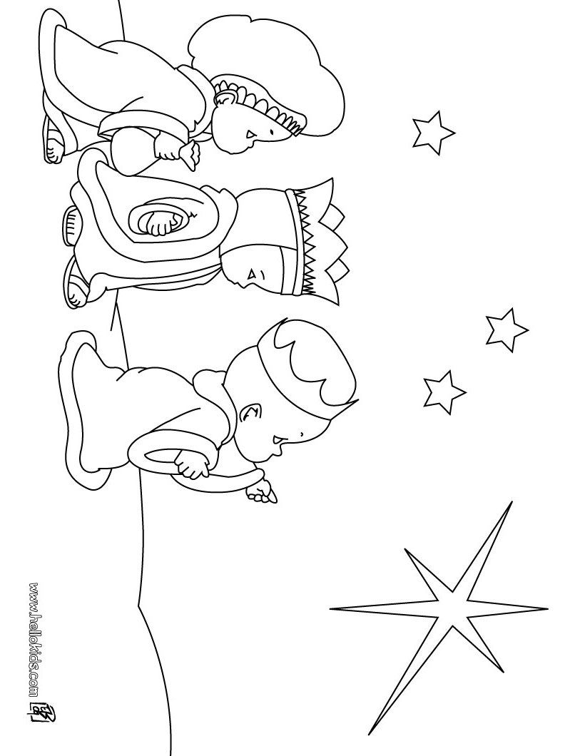 Google Image Result For Http Images Hellokids Com Uploads Tiny Galerie 20091147 Three Wise Men Coloring Page Source Kerstkleurplaten Driekoningen Kerstmis