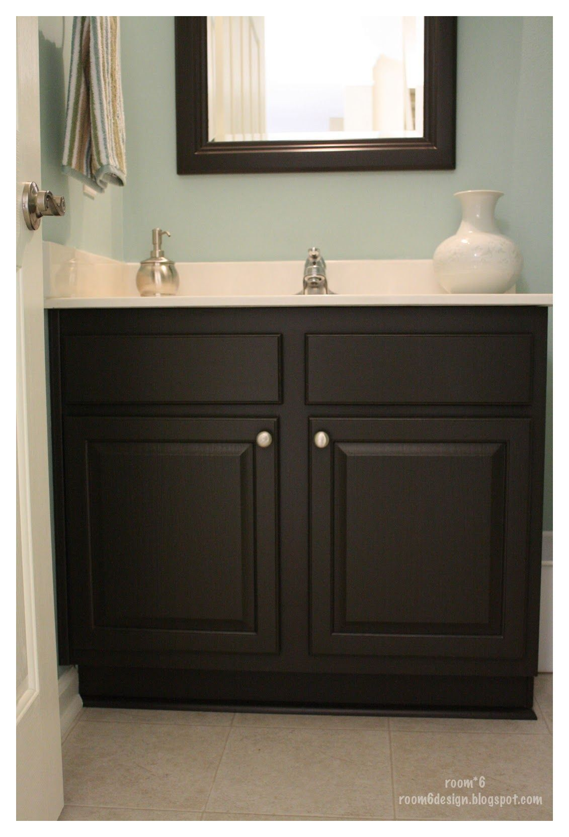 Espresso Bathroom Cabinets Counter Tops Oh I Want To Paint Our Bathroom Cabinet In 2020 Bathroom Cabinet Colors Painting Bathroom Cabinets Painted Vanity Bathroom