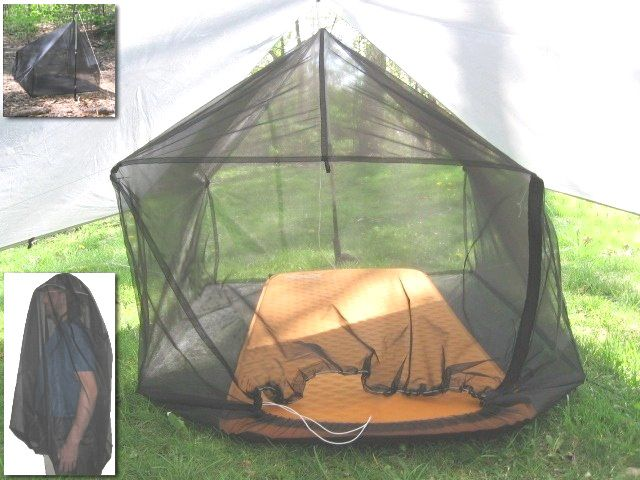 Quot Inner Peace Quot Bug Net Tarp Tent Mode Clips Overhead To