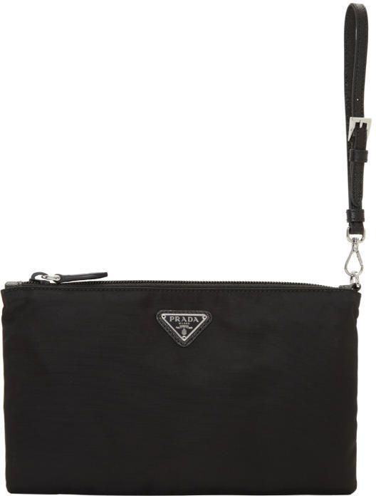 ff4212325f3f Prada Black Flat Nylon Pouch Black Nylons, Fashion Handbags, Fashion Bags,  Fashion Accessories