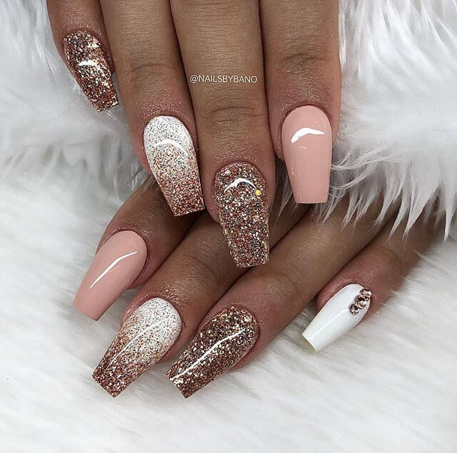 50 Catchy And Appealing Cute Nails For Fun Loving Women Gold Nail Designs Ombre Nails Ombre Nail Designs
