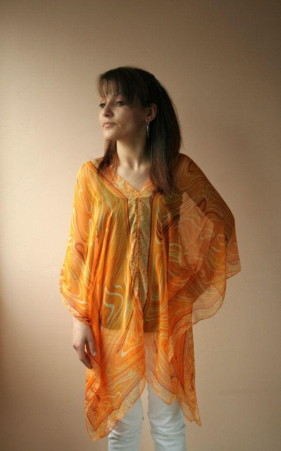 Beach tunic swimsuit cover up pareo caftan by fladies on