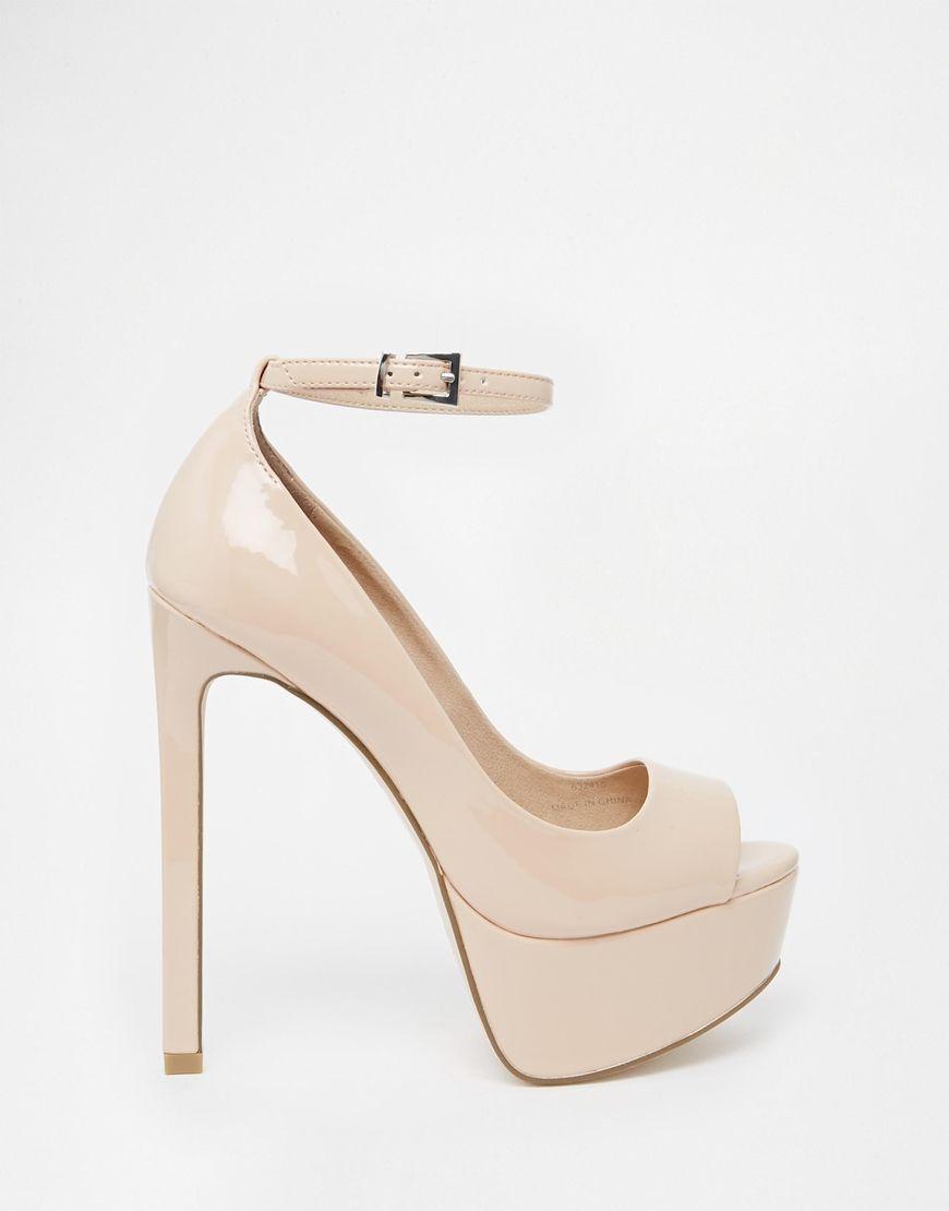 ASOS+PLANET+Peep+Toe+High+Heels