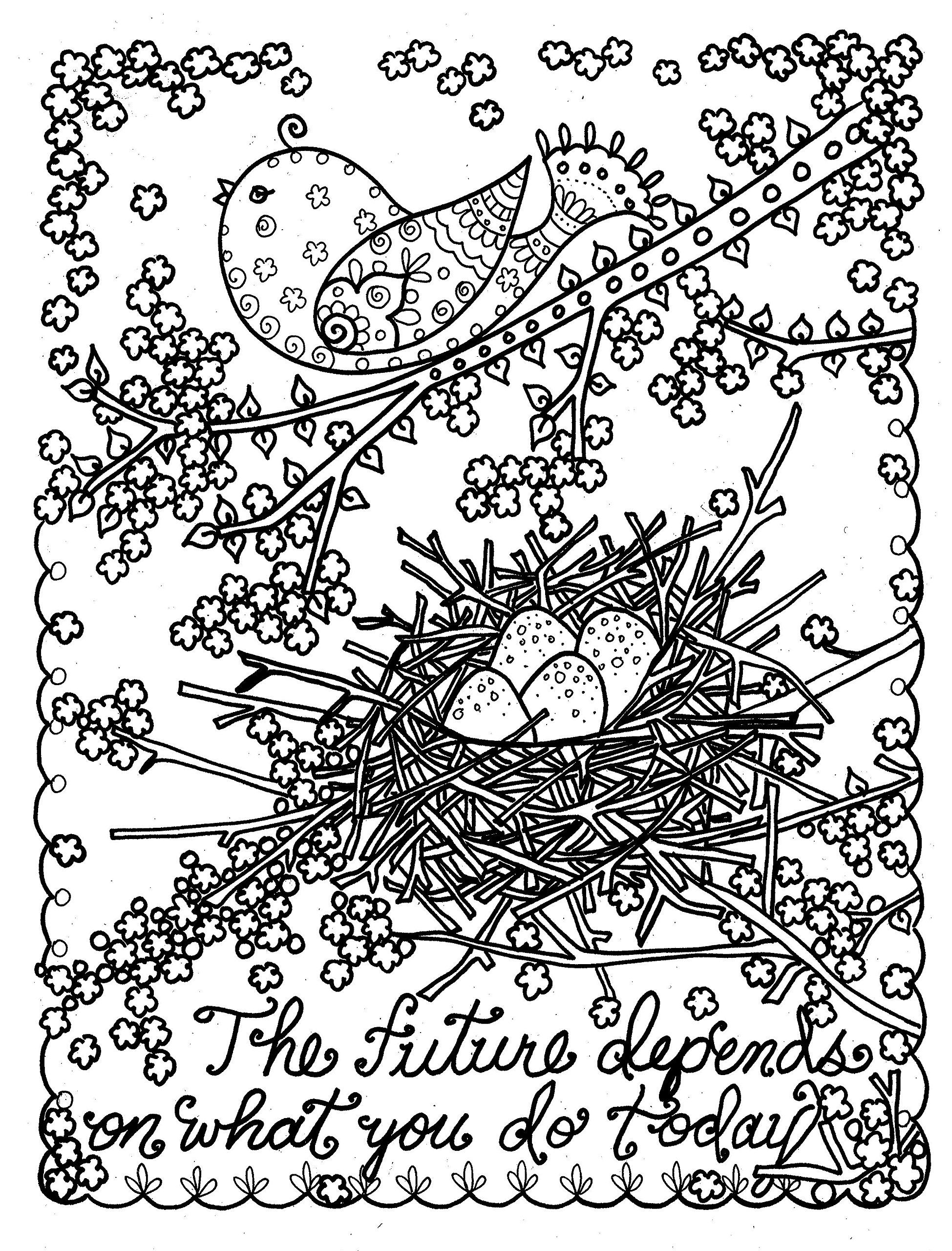 Be Brave Adult Coloring Book to Relieve Stress and Create Self Worth ...