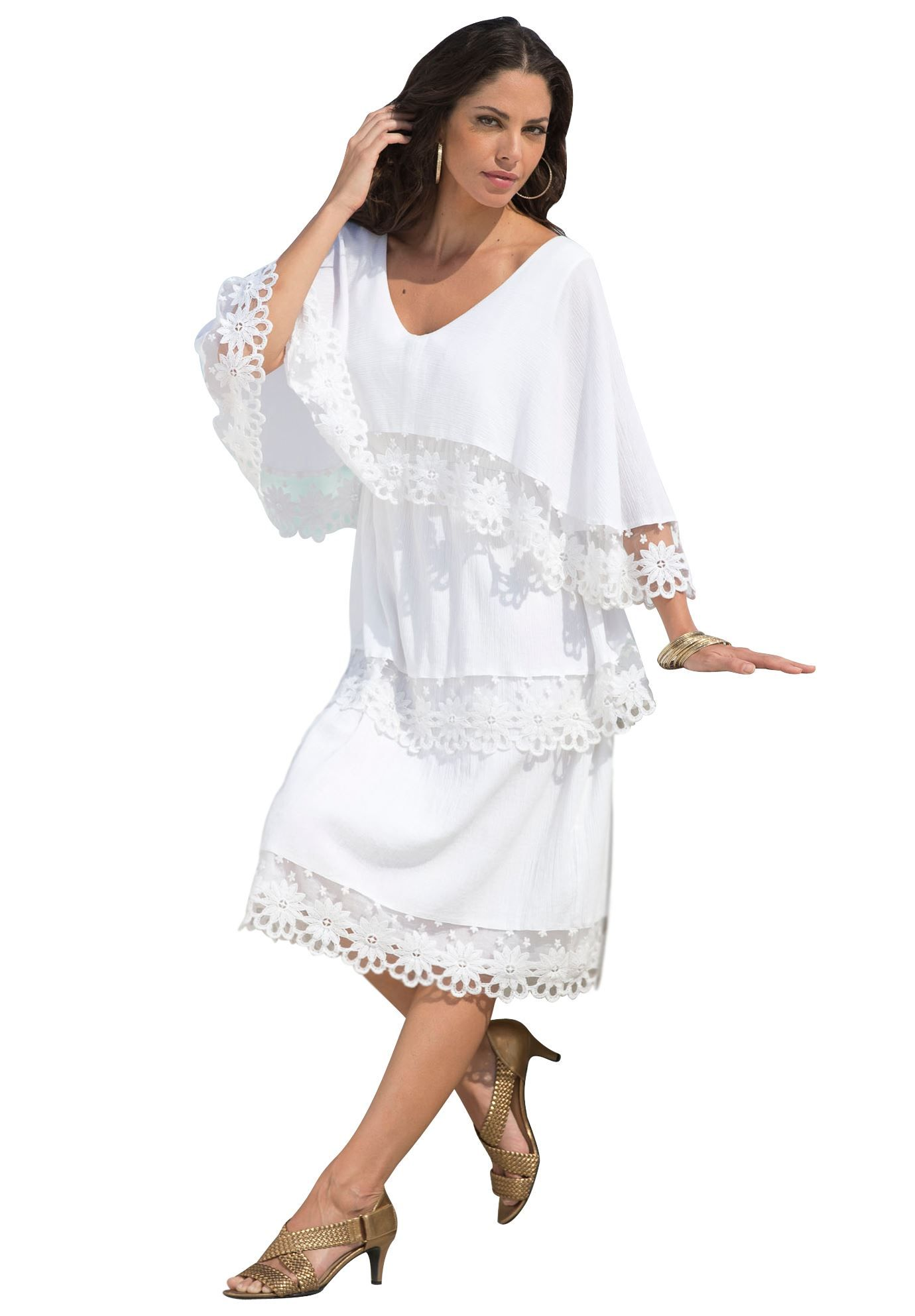 Gauze Dress | Plus Size Dresses and Suits | Roamans | Clothes ...