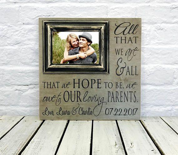 Parents Thank You Thank You Gift Wedding Gift Parents Of Wedding Gifts For Parents Wedding Frame Gift Wedding Frames