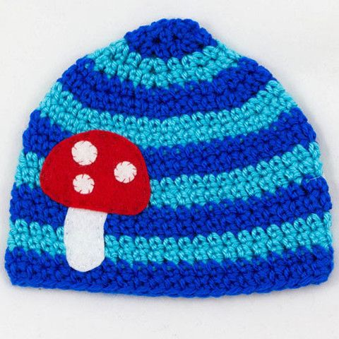blue mushroom hat -LIMITED EDITION hand crocheted hats that are both stylish and durable- my urbanware