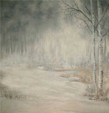 Birches Backdrop - Scenic Backdrop