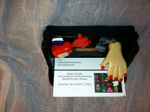 Nail Technicians Mannequin Technician Business Card Holder Sofa With Hand And Red