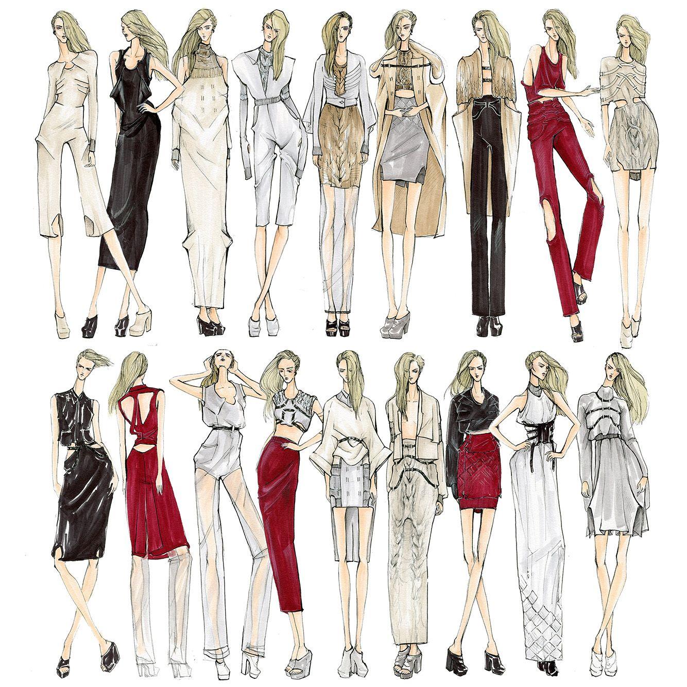 Pin oleh Dunaseneviratne di fashion | Ilustrasi model