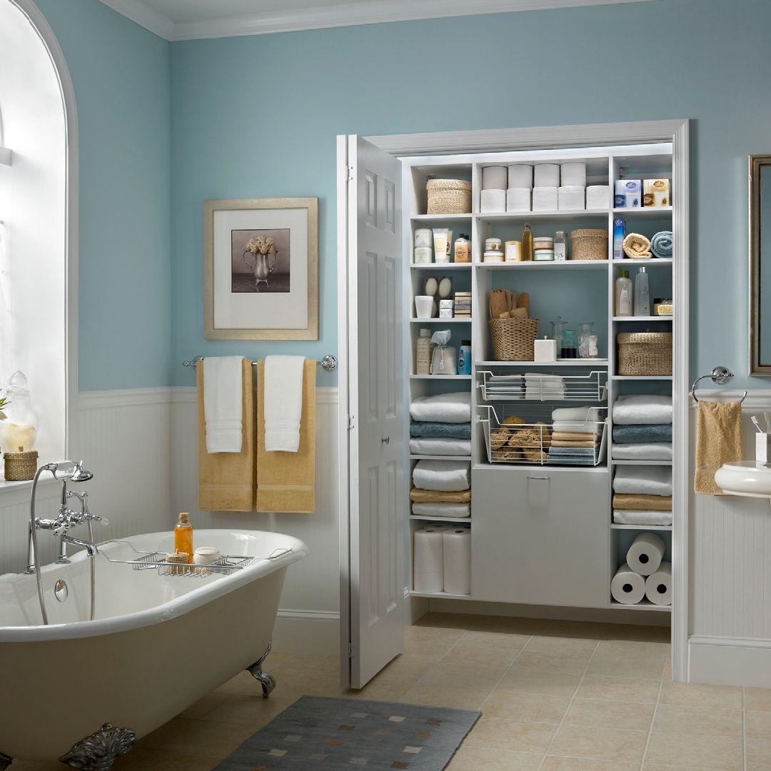 Bathroom Redesign In 2020 Bathroom Linen Closet Bathroom Closet Designs Closet Designs