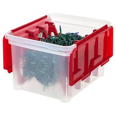 Iris Christmas Light Storage Box With 4 Light Wraps Lid Storage Christmas Lights Holiday Storage