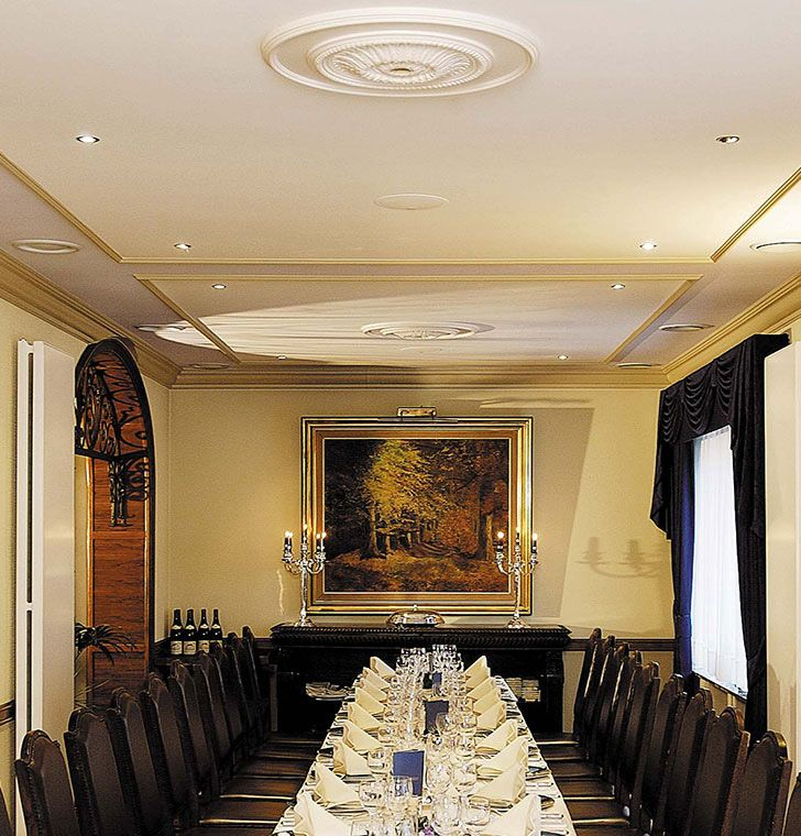 how to install large ceiling medallions   ceiling medallions above large dining table - #medallions ...
