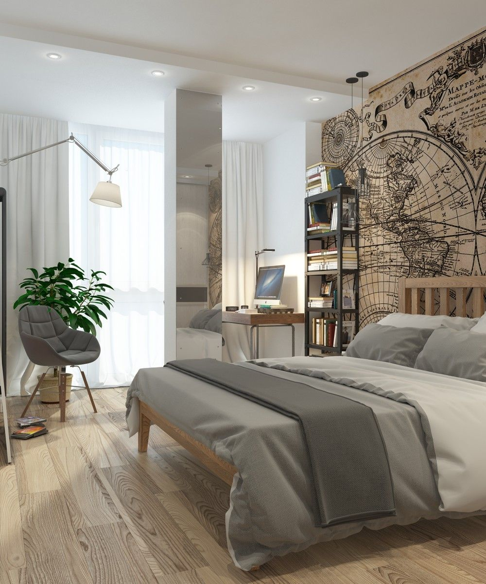 01 Fresh Small Master Bedroom Decor Ideas: 5 Apartment Designs Under 500 Square Feet