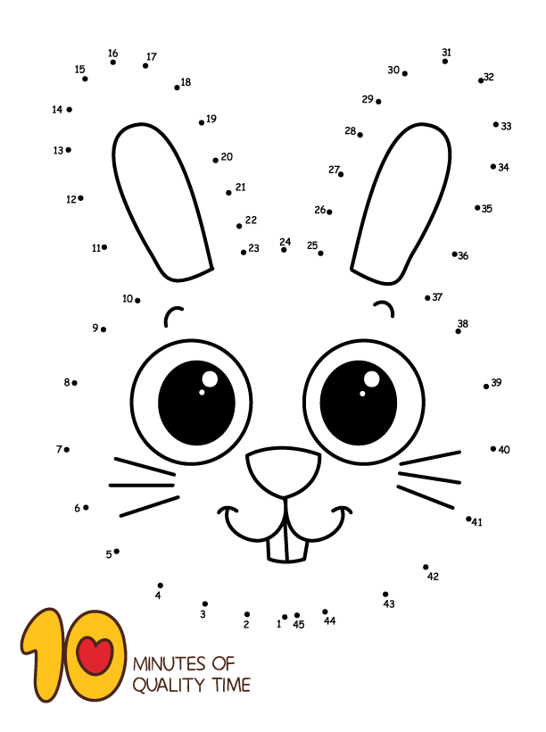 Dot To Dot Bunny Dot Worksheets Bunny Coloring Pages Easter Bunny Colouring
