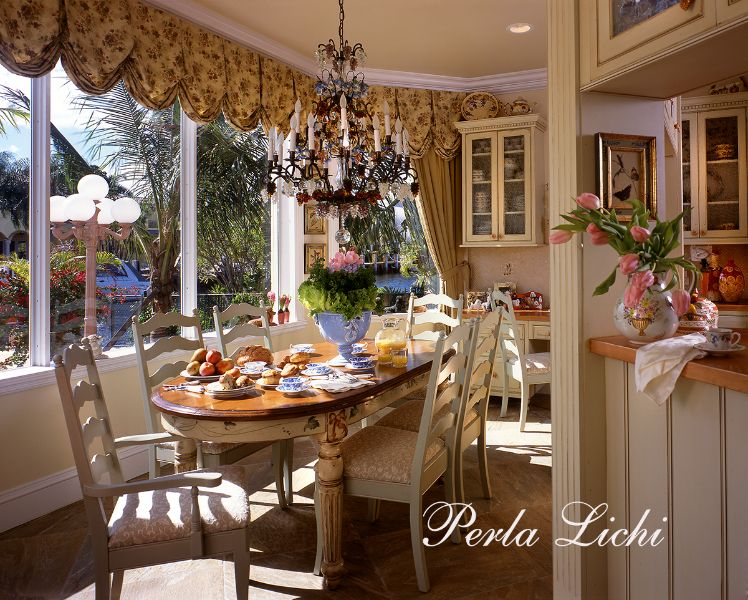 French Provencal Fort Lauderdale FL Breakfast Room House And Amazing Kitchen Remodeling Fort Lauderdale Plans