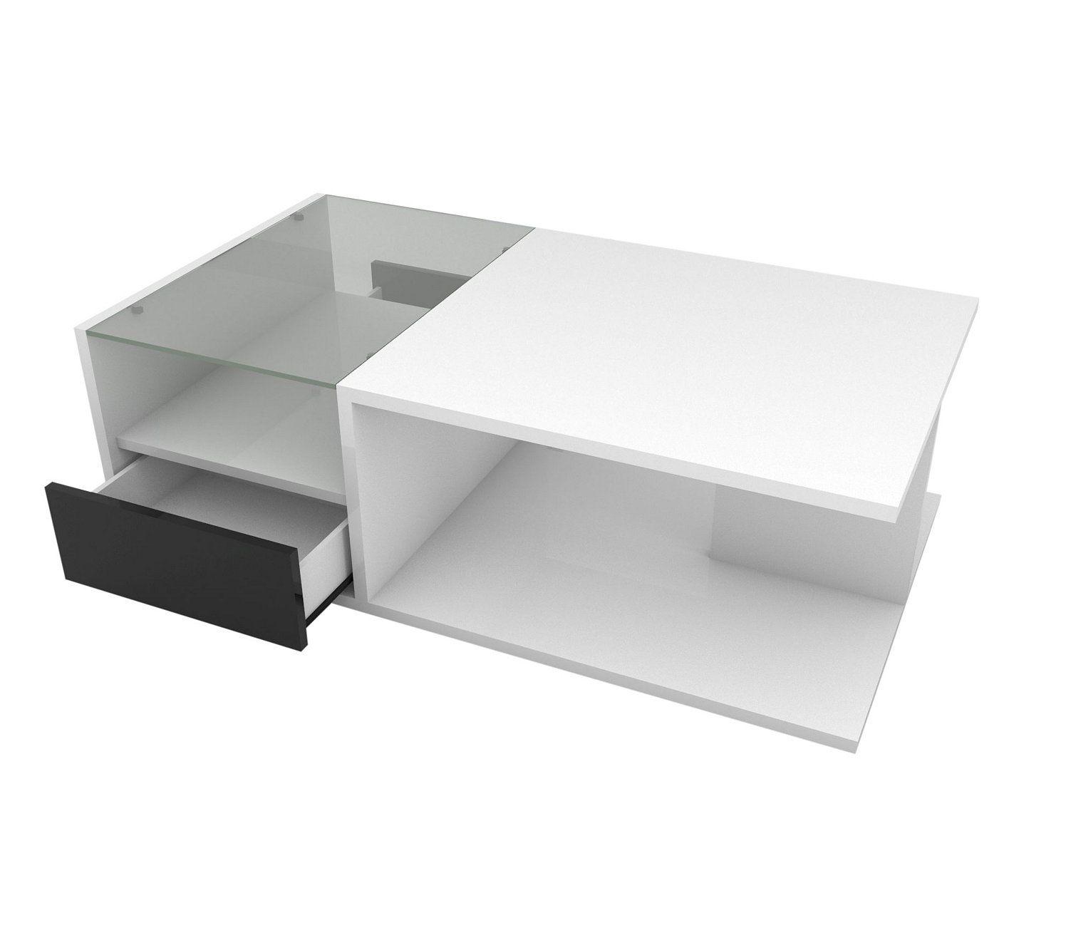 acheter populaire 1598d 73b6f Table Basse RIVA 2 Blanc/noir | chambre et salon en 2019 ...